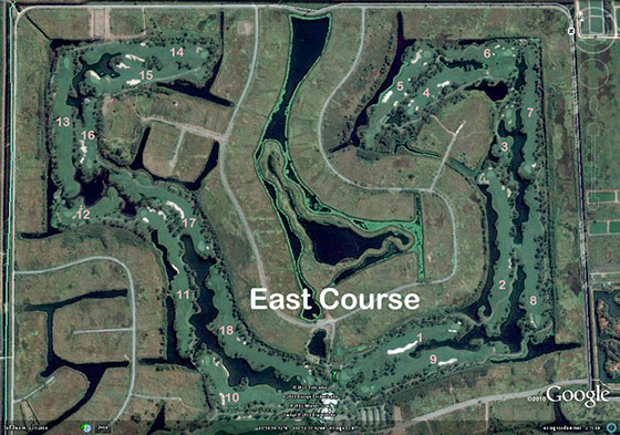east course layout